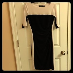 Ralph Lauren Black and White fitted dress